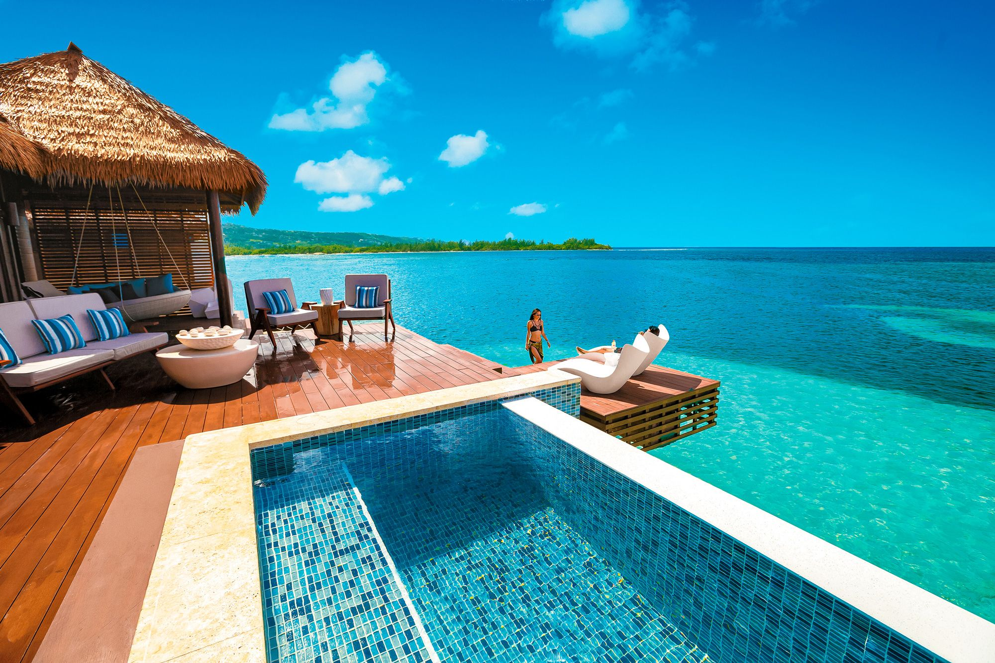 Sandals Royal Caribbean Over Water Private- Butler Villa Out