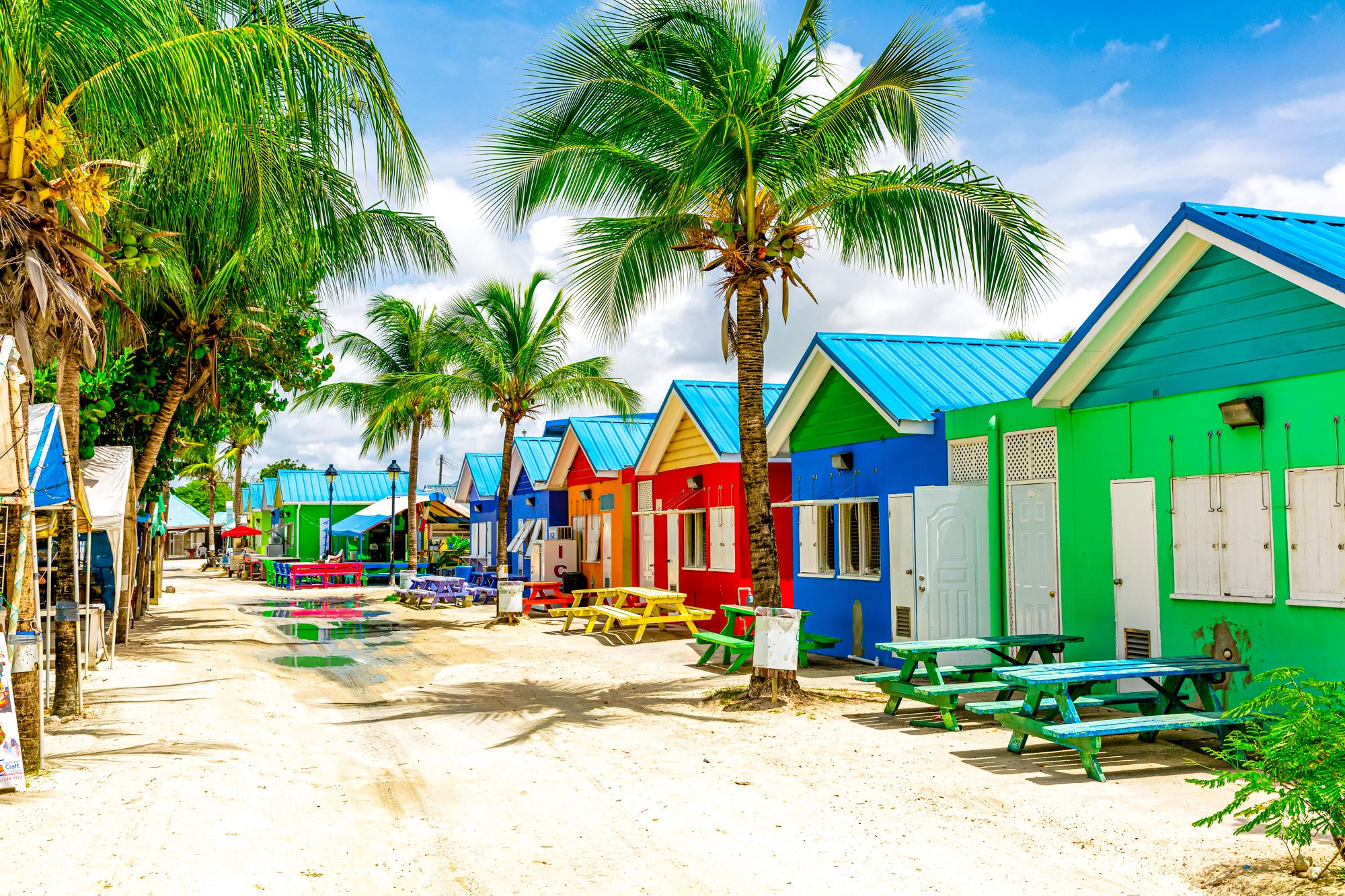 Barbados Colorful Houses