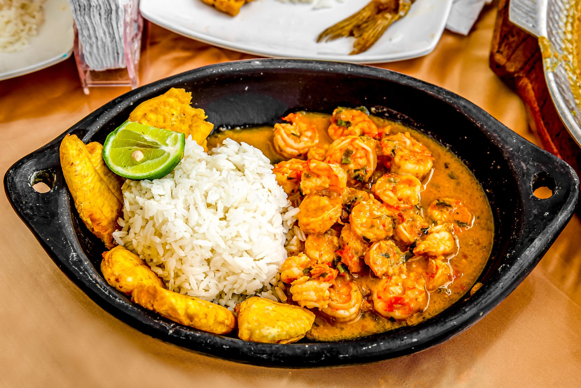 Jamaican Shrimp Rundown Rundun Rice