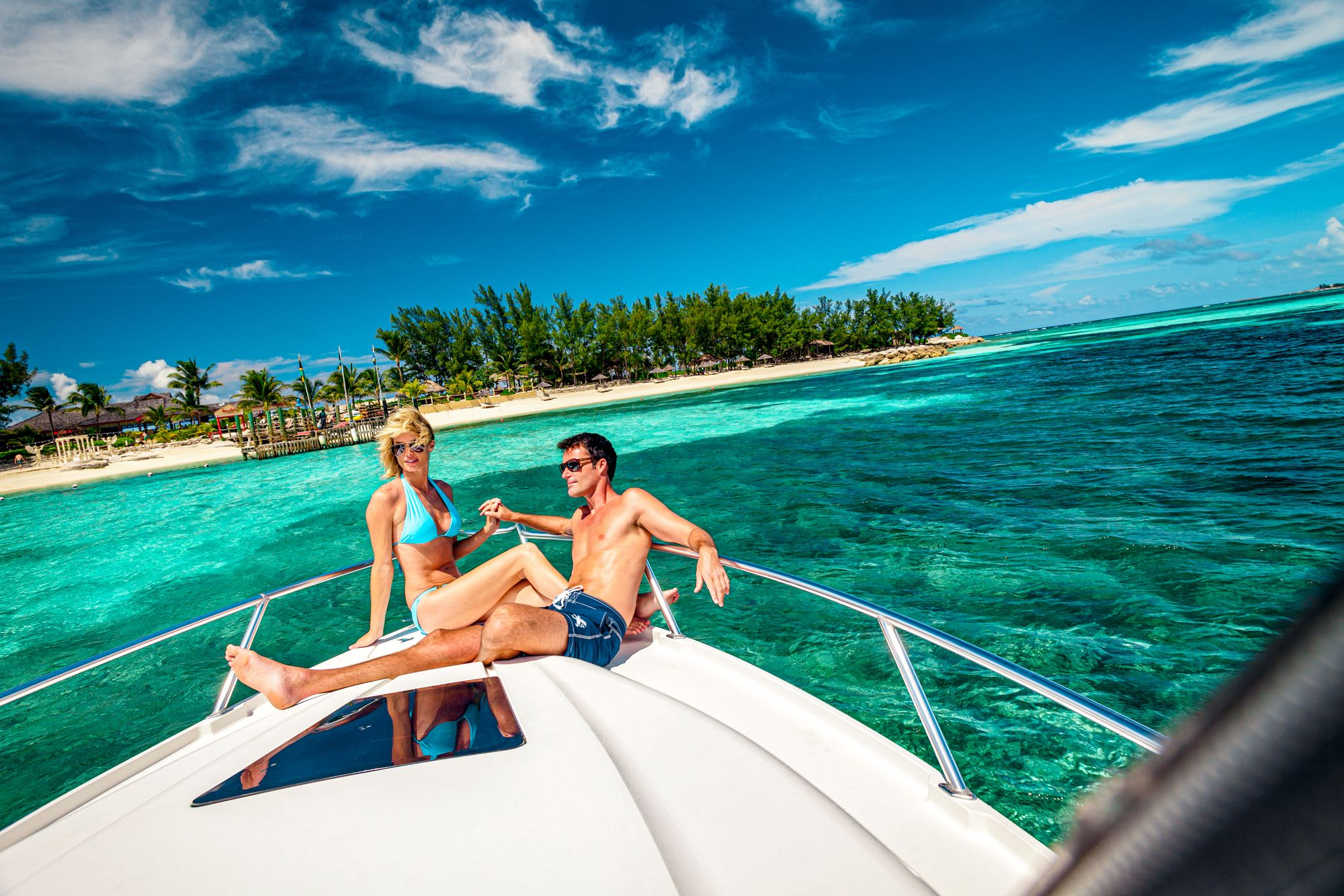 Sandals Royal Bahamian Private Island Couple Boat