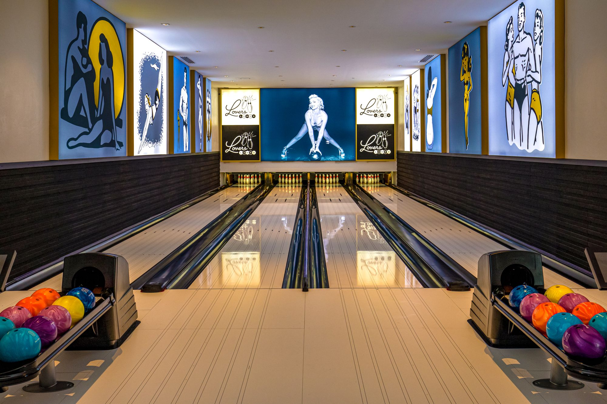 Sandals Royal Barbados Lovers Lanes Bowling Alley