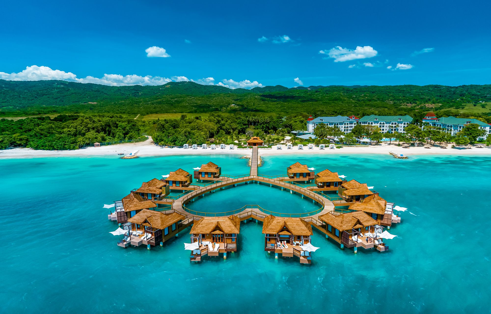 Sandals South Coast Over Water Bungalows Aerial Front
