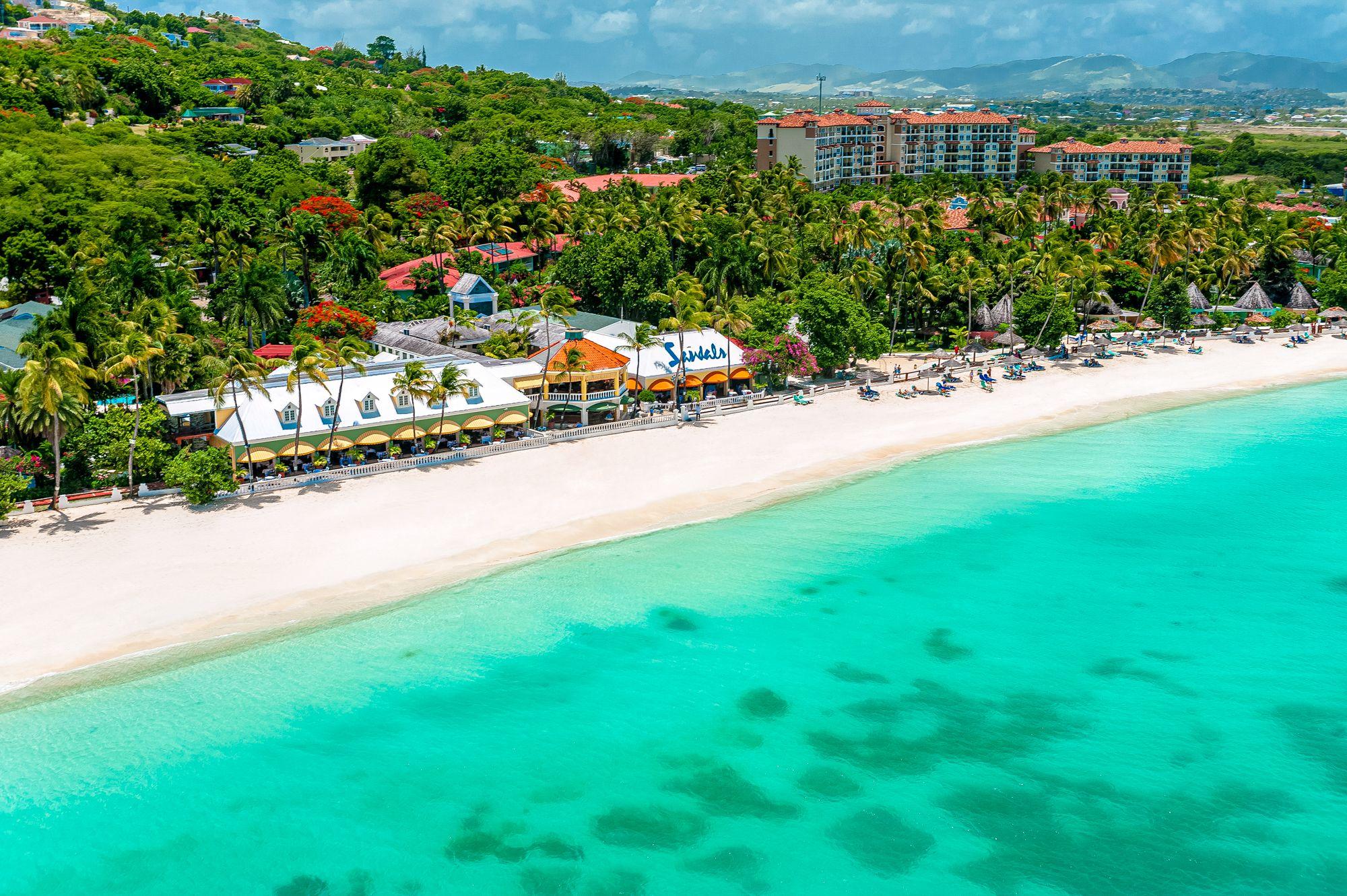 Sandals Grande Antigua Overview Beach Front