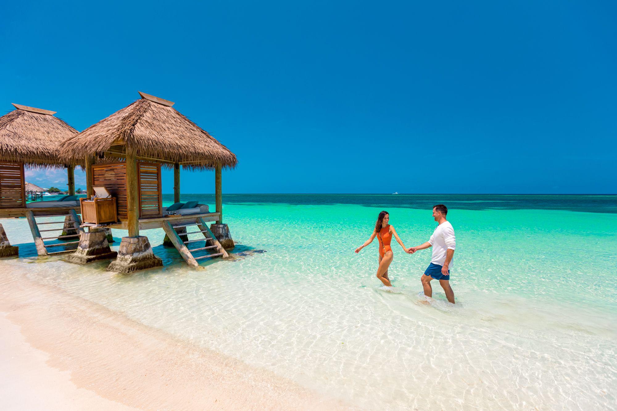 Sandals Montego Bay Beach Cabanas