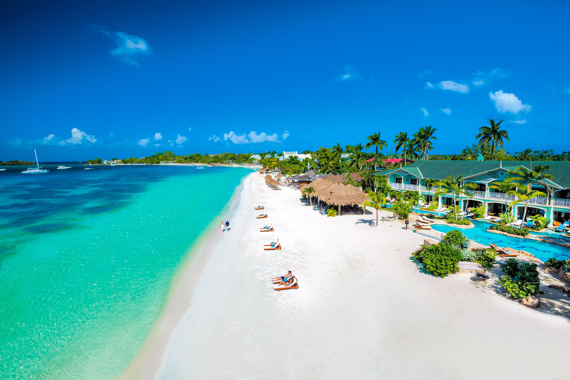Sandals Negril Beach Overview