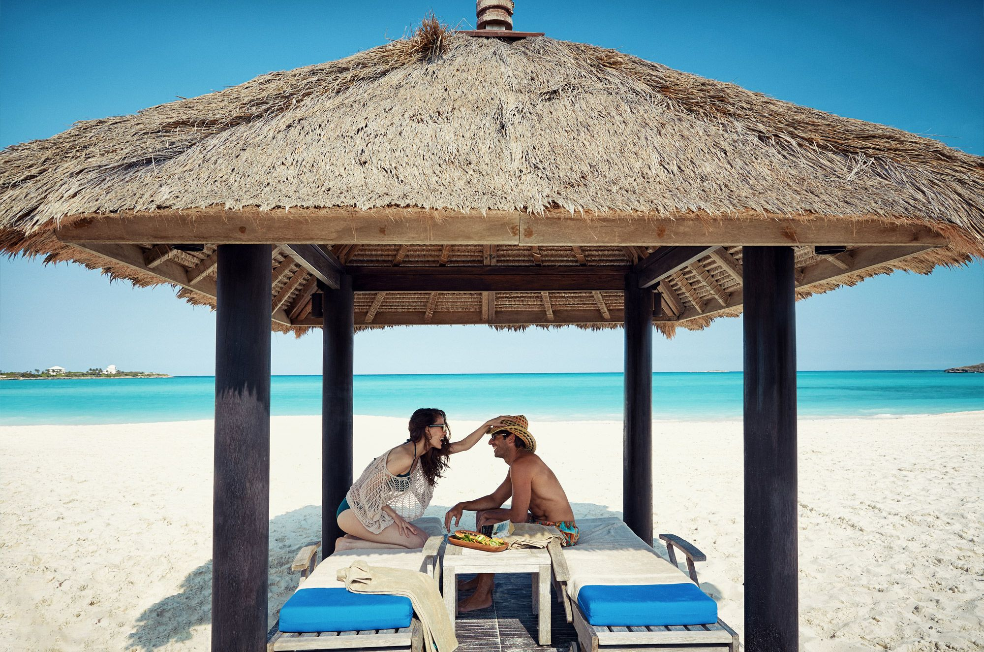 Couple in Cabana