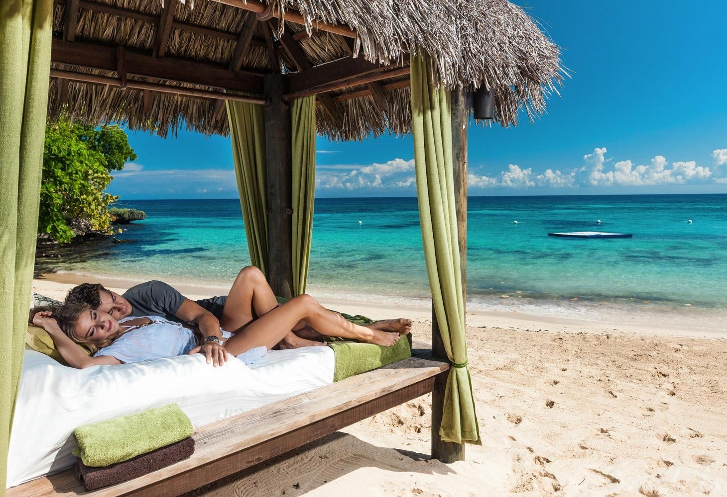 Couple in Cabana at Sandals Ochi
