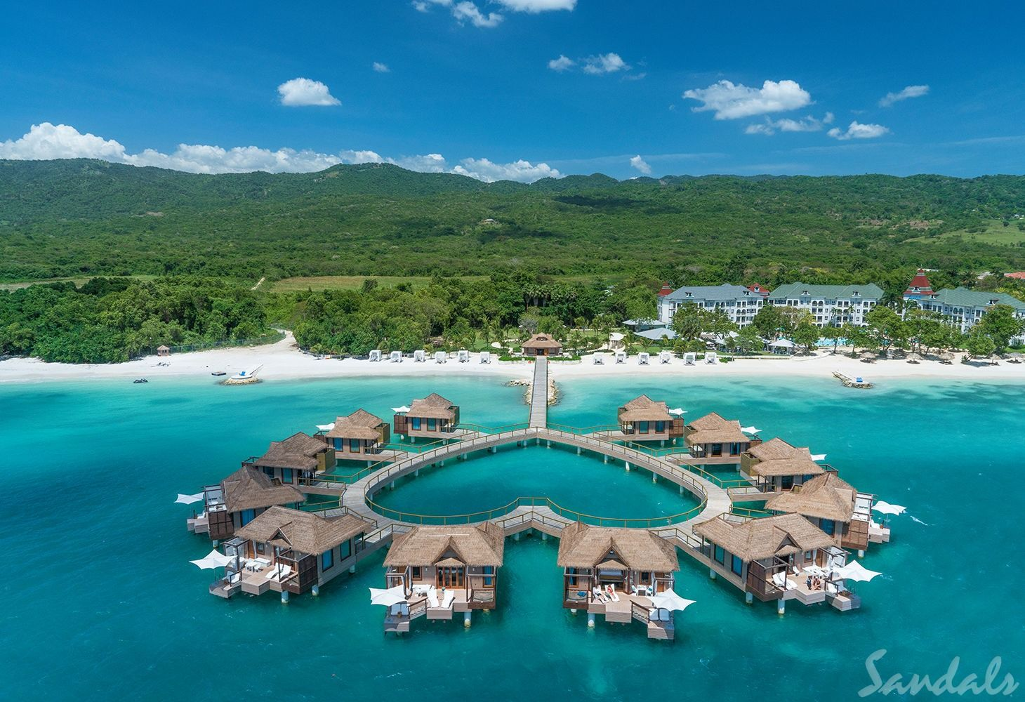 Sandals overwater heart bungalows
