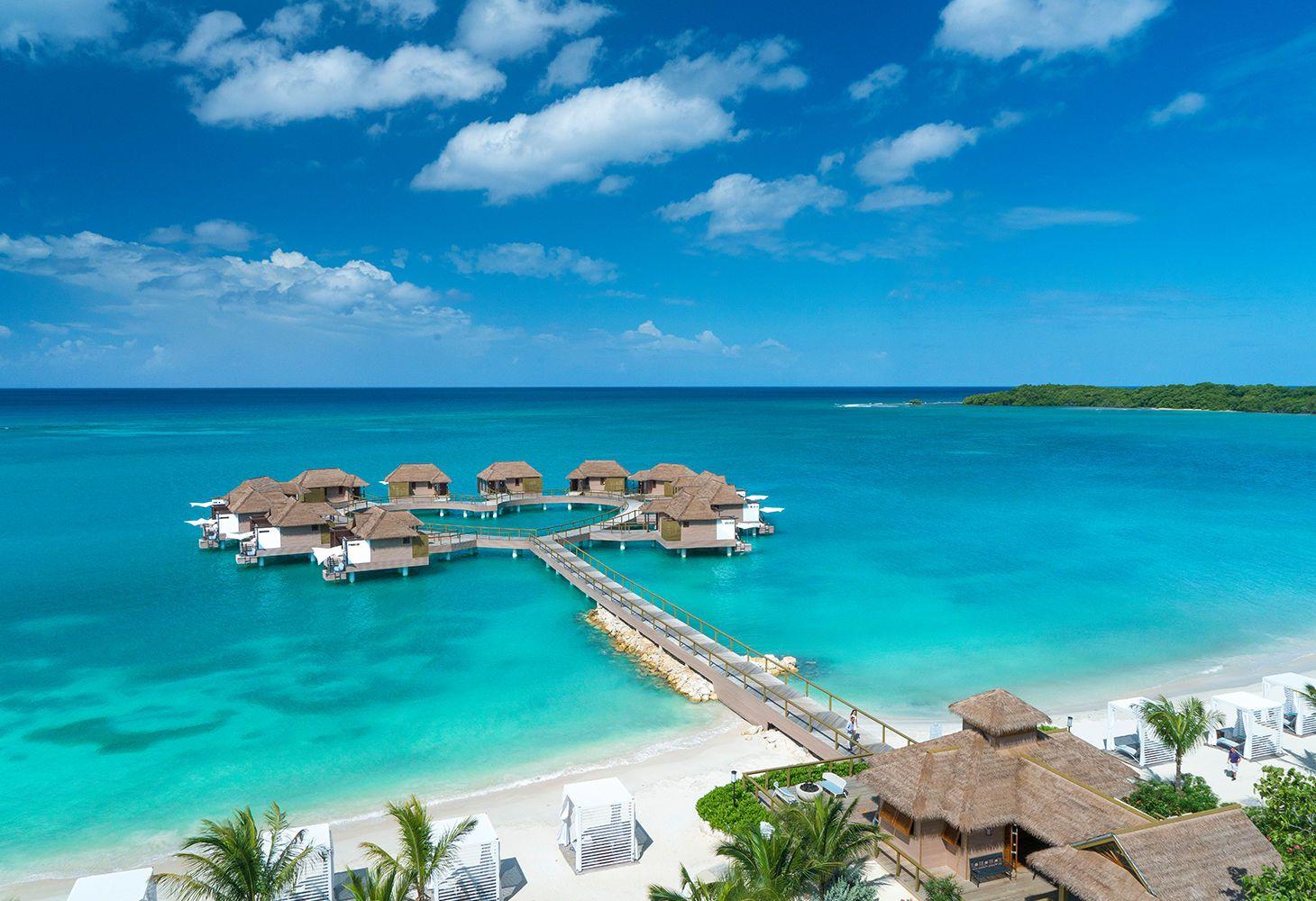 overwater bungalows Jamaica