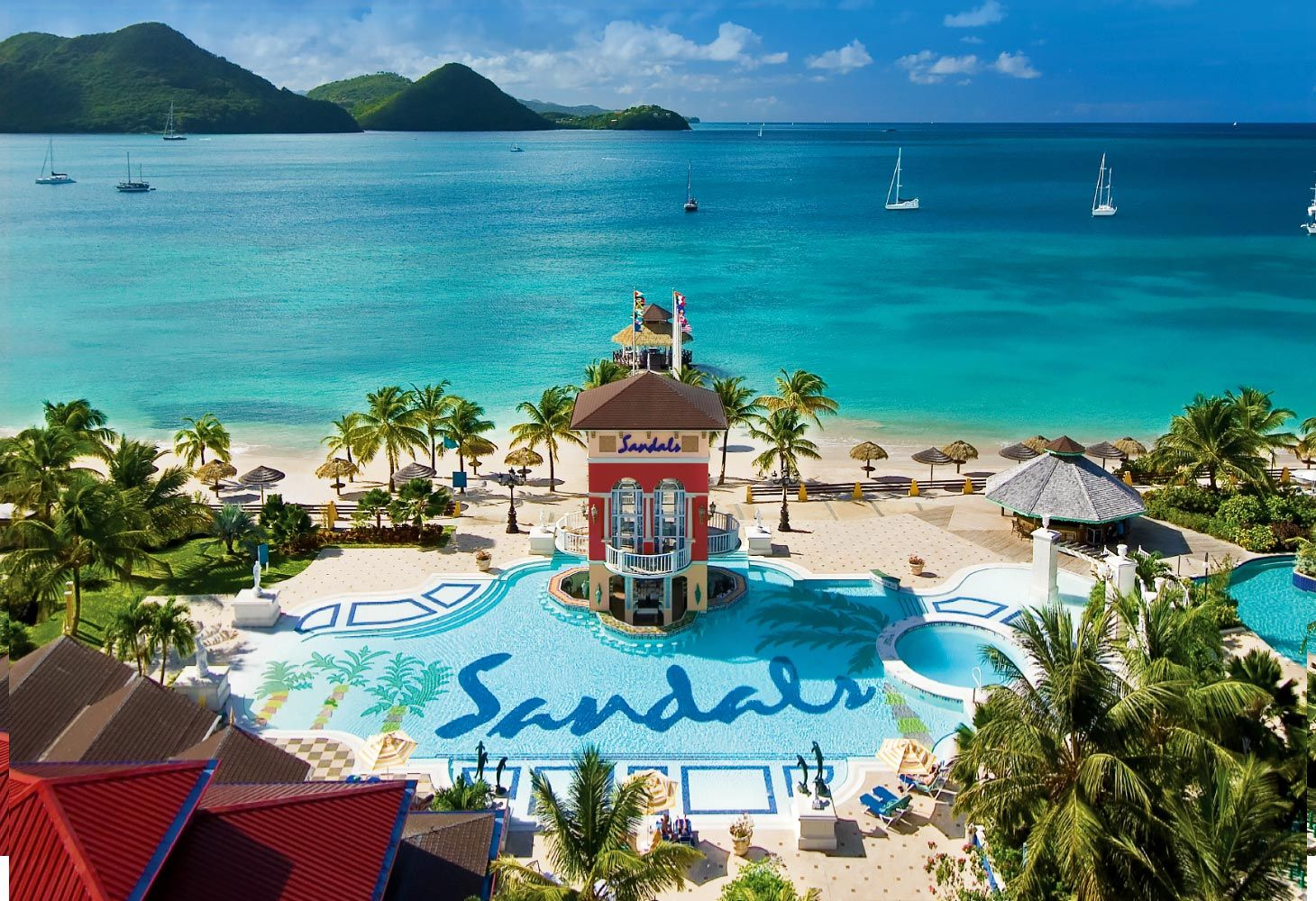 Sandals Grande Saint Lucian Pools